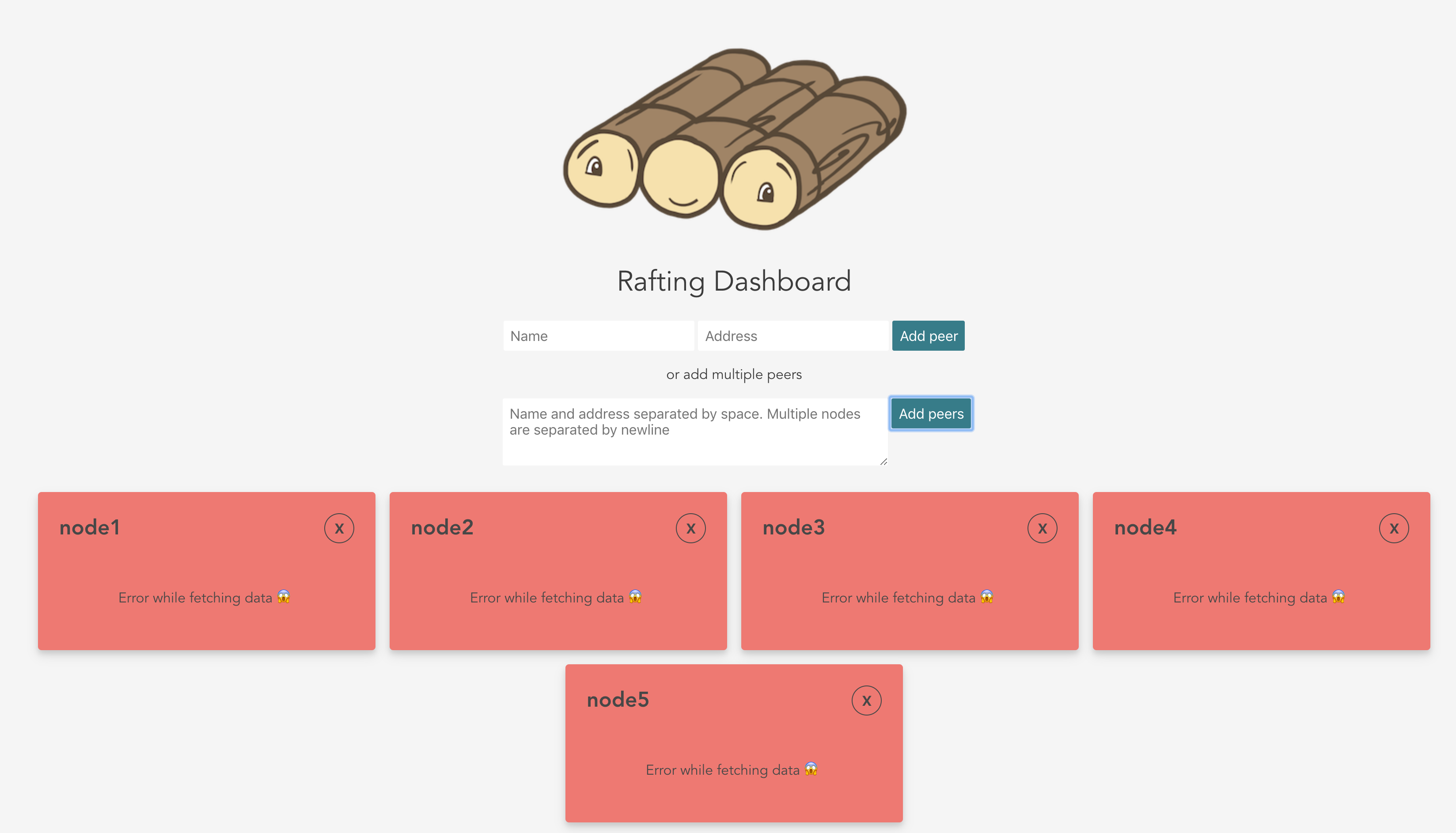 rafting dashboard